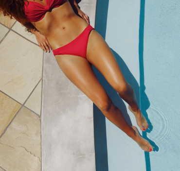 bikini area